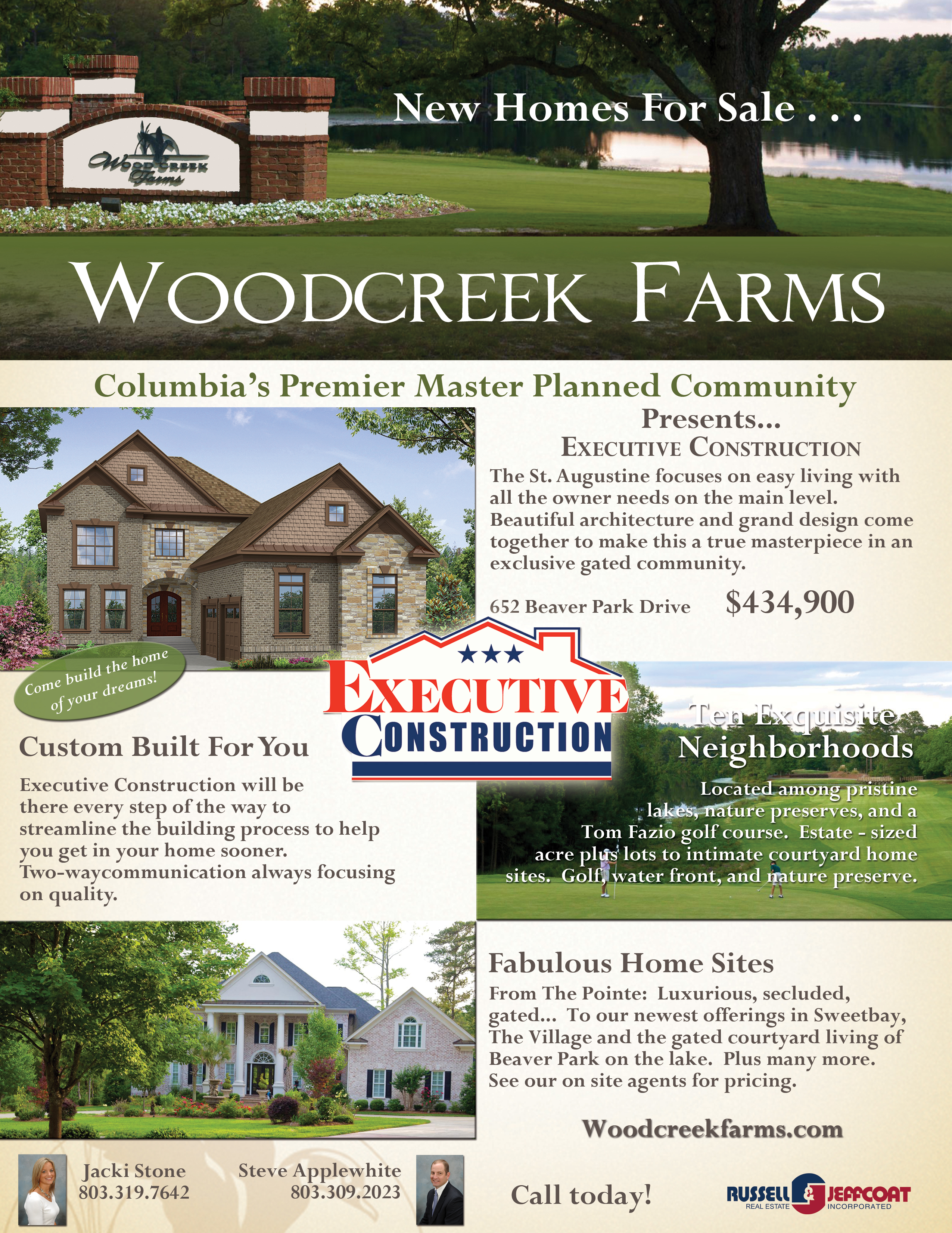 New Home Builder In Golf Course Community In Woodcreek