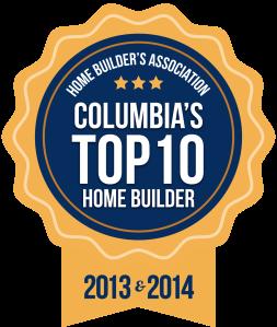 Top ten builder in columbia sc logo